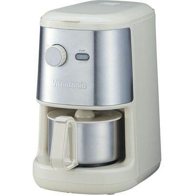 【代引手数料無料】Vitantonio(ビタントニオ) 全自動コーヒーメーカー アイボリー Lif510-IV