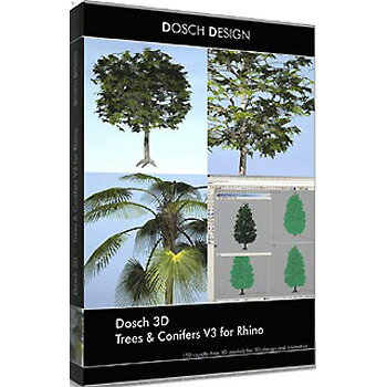 DOSCH DESIGN DOSCH 3D: Trees & Conifers V3 for Rhino D3D-TCV3-RH