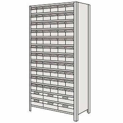 サカエ 物品棚LEK型樹脂ボックス LEK2124-78G