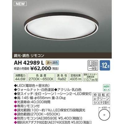 コイズミ LEDシーリング(~12畳) AH42989L