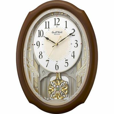 【代引手数料無料】リズム時計 スモールワールド セレブレ 4MN541RH06
