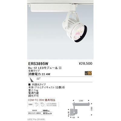 【代引手数料無料】遠藤照明 LEDZ Rs series 生鮮食品用照明(スポットライト) ERS3895W