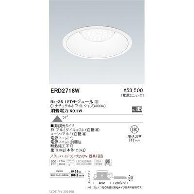 【代引手数料無料】遠藤照明 LEDZ Rs series リプレイスダウンライト ERD2718W