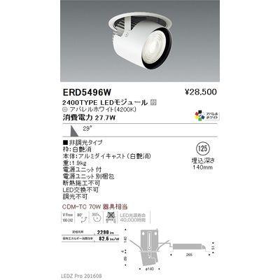 【代引手数料無料】遠藤照明 LEDZ ARCHI series ダウンスポットライト ERD5496W