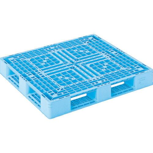 三甲 サンコー プラスチックパレット D4ー1112ー3 青 SK-D4-1112-3-BL