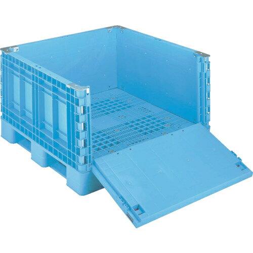 岐阜プラスチック工業 リス パレットボックスBJB-S・1111X65一面扉11 ブルー BJB-S・1111X65-S11 BJBS1111X65S11