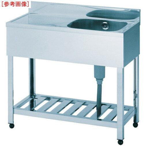 東製作所 アズマ 一槽水切シンク左水槽 900×600×800 HPM1-900L HPM1-900L