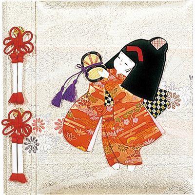 ナカバヤシ フエルアルバムDigio 誕生用 京人形 ビス式/Lサイズ 女の子 アH-LB-121-1 E413847H