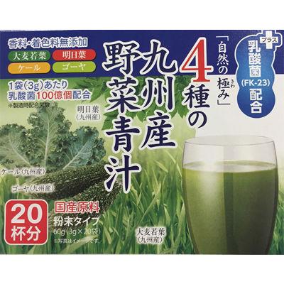 【代引手数料無料】その他 4種の九州産野菜青汁+乳酸菌(FK-23)配合 1箱60g(3g×20袋)×20箱  Lia053