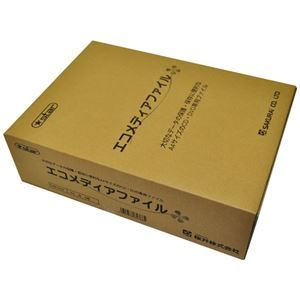 その他 (まとめ) 桜井 エコメディアファイル スリムA4 6穴 白 EMFA4WS 1パック(5冊) 【×4セット】 ds-1586150