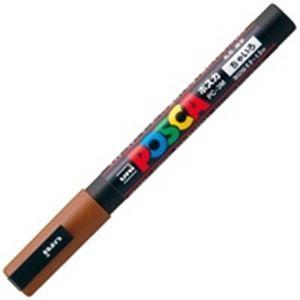 その他 (業務用200セット) 三菱鉛筆 ポスカ/POP用マーカー 【細字/茶】 水性インク PC-3M.21 ds-1740190