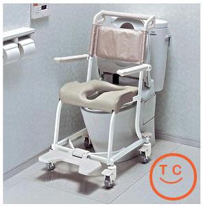 TOTO水まわり用車椅子4輪キャスタータイプ[ソフトシート仕様]送料無料   介護用品  入浴  入浴用品 お風呂用品  車いす  シャワーキャリー    【敬老の日】