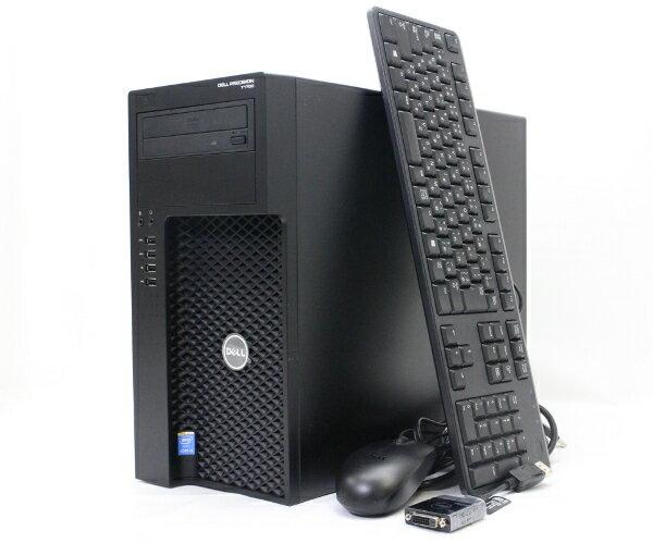 DELL Precision T1700 Core i5-4690 3.5GHz 16GB 1TB QuadroK620 DVD-ROM Windows7Pro64bit  【中古】【20170609】