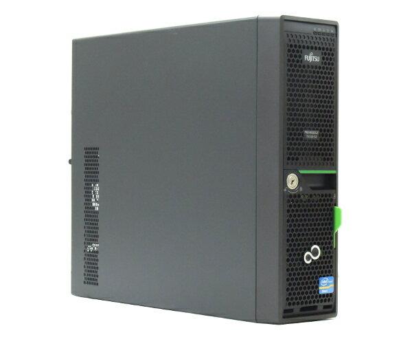 富士通 PRIMERGY TX120 S3 Xeon E3-1220v2 3.1GHz 4GB 146GBx2台(SAS2.5インチ/6Gbps/RAID1構成) DVD-ROM RAID 【中古】【20170615】