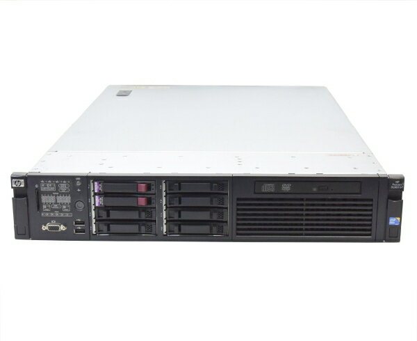 hp ProLiant DL380 G7 Xeon E5649 2.53GHz*2 12GB 300GBx2台 (SAS2.5インチ/6Gbps/RAID1構成) DVD-ROM AC*2 SmartArray-P410i 【中古】【20170526】