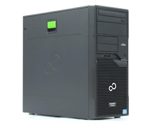 富士通 PRIMERGY TX100 S3 Xeon E3-1220v2 3.1GHz 4GB 250GBx2台(SATA3.5インチ/RAID1構成) DVD-ROM RAID 【中古】【20170712】