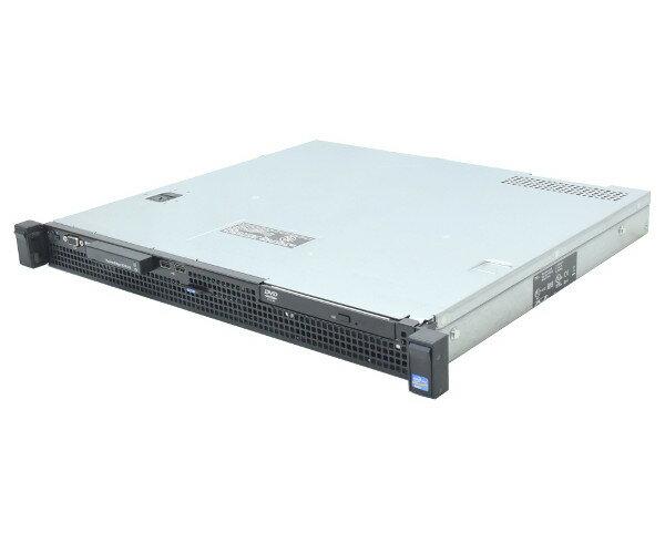 DELL PowerEdge R210 II Xeon E3-1220v2 3.1GHz 8GB 250GBx2台(SATA3.5インチ/RAID1構成) DVD-ROM PERC H200A 【中古】【20170712】
