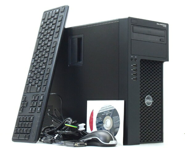 DELL Precision T1700 Xeon E3-1226v3 3.3GHz 16GB 500GB QuadroK620 DVD-ROM Windows7Pro64bit  【中古】【20170703】