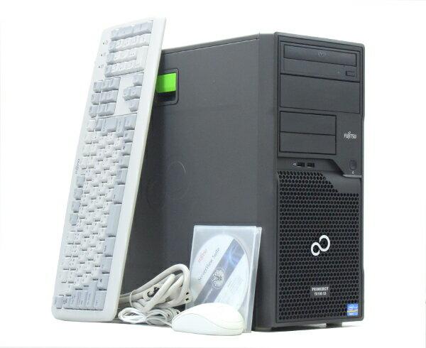 富士通 PRIMERGY TX100 S3 Xeon E3-1220v2 3.1GHz 8GB 250GBx2台(SATA3.5インチ/RAID1構成) DVD-ROM SATA RAID 【中古】【20170707】