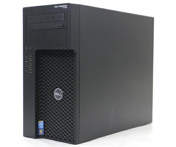DELL Precision T1700 Xeon E3-1226v3 3.3GHz 8GB 500GB QuadroK620 DVD+-RW Windows7Pro64bit  【中古】【20170807】