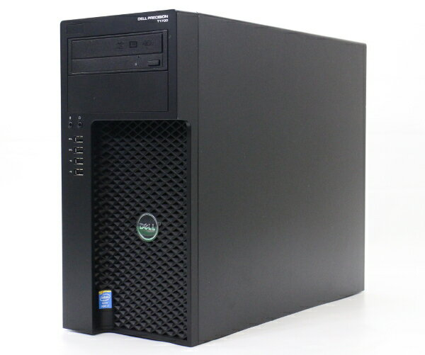 DELL Precision T1700 Core i7-4770 3.4GHz 8GB 1TB*2 QuadoK600 DVD+-RW Windows7 Pro 64bit 【中古】【20170816】
