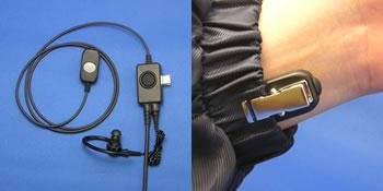 エコテクノ EK-304 袖付け型マイク+イヤホン+PTTスイッチ  対応機種:アイコム(ICOM)IC-UH35   IC-DU55C   IC-D50 【代引手数料無料】
