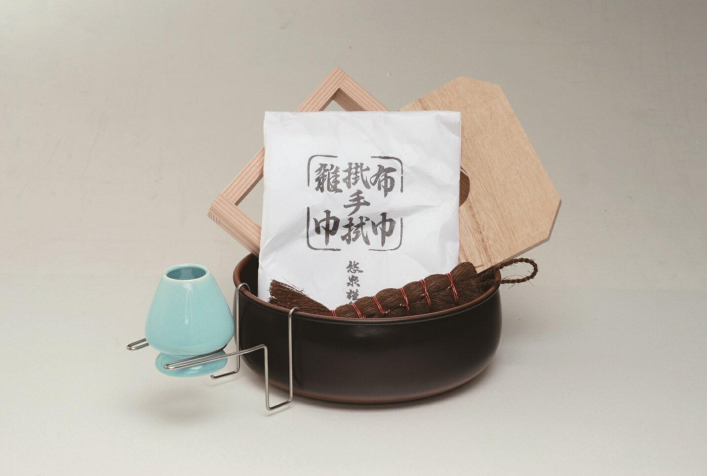 【送料無料※一部地域を除く】【茶道具】水屋道具茶巾たらいセット
