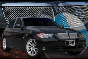 06 07 08 BMW 3 シリーズ セダン 2PC メッシュ グリル インサート E&G