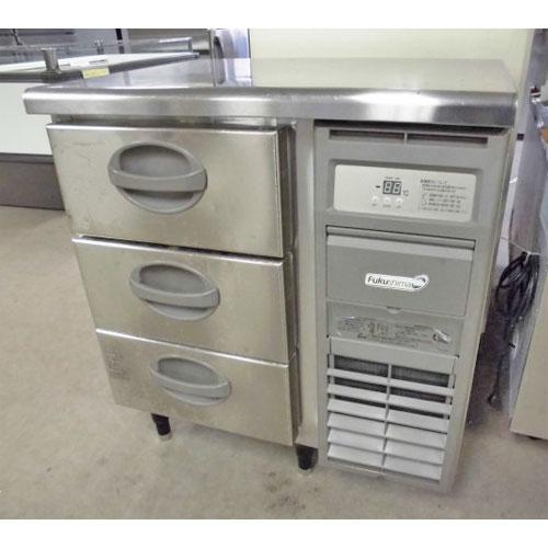 【中古】冷蔵ドロワーコールドテーブル 福島工業 YDC-080RM-R 幅755×奥行600×高さ840  【送料別途見積】【業務用】