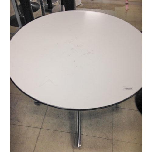 【中古】丸テーブル 幅900×奥行900×高さ710  【送料別途見積】【業務用】