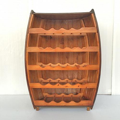【新品】ワインボトルラック(ハーフ樽) 幅480×奥行340×高さ825 【送料無料】【業務用】【プロ用】