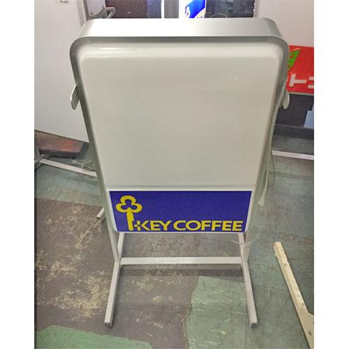 【中古】電飾看板(KEY COFFEE) 幅630×奥行570×高さ940 【送料無料】【業務用】