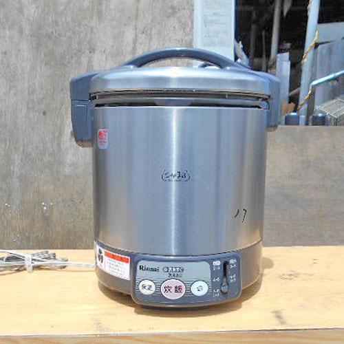 【中古】電子ジャー付きガス炊飯器 リンナイ RR-100VL 幅310×奥行270×高さ320 都市ガス 【送料無料】【業務用】