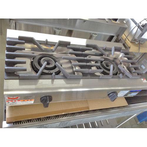 【中古】ガステーブルコンロ マルゼン RGC-094C 幅900×奥行450×高さ200 LPG(プロパンガス) 【送料無料】【業務用】