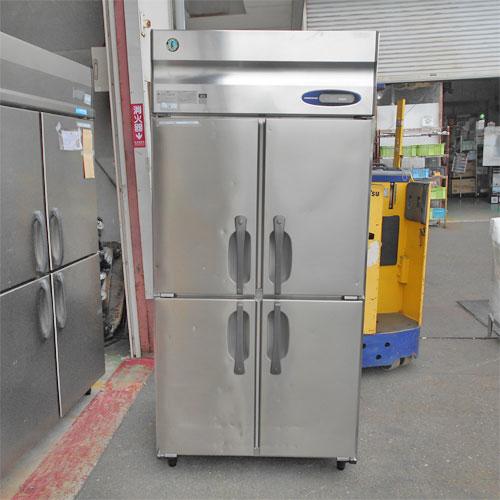 【中古】4ドア縦型冷凍庫 ホシザキ HF-90Z3-ML 幅900×奥行800×高さ1890 三相200V  【送料別途見積】【業務用】