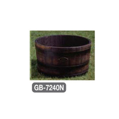 ウイスキー樽プランタ(椀型) 幅720×奥行720×高さ400 【業務用】【送料別】