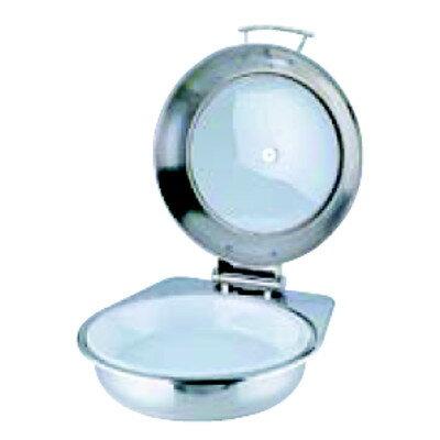 KINGO ステンレス窓付きカバー式丸 チェーフィングデッシュ AG6712 (陶器中皿付) 【業務用】【グループC】