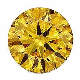 カラーダイヤモンド ラウンドカット ルース  ゴールドイエロー 3.3mm 天然石 アクセサリー diac-gly-33