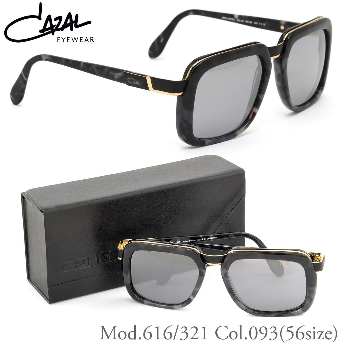【CAZAL】(カザール) レジェンズ サングラス 616/321 093 56サイズ スクエア 限定 ミラーレンズ仕様 カザール CAZAL Limited Edition メンズ レディース