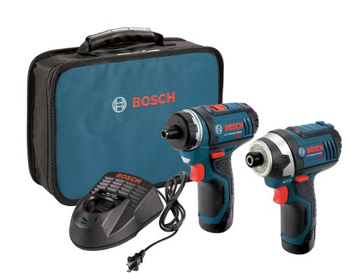 Bosch CLPK27-120 12-Volt マックス Lithium-イオン 2-Tool コンボ キット (Drill/ドライバー and Impact Driver) with 2 Batteries, Charger and ケース (海外取寄せ品)