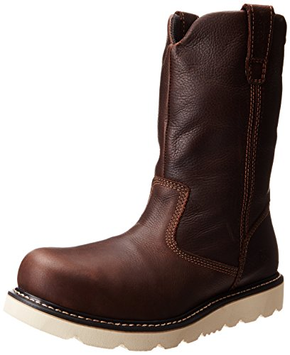 Caterpillar メンズ Timber ST Work ブーツ,Red/Brown,12 M US (海外取寄せ品)