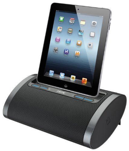 iHome iDL48BC デュアル Charging Portable Rechargeable スピーカー with Lightning ドック and USB Charge/プレイ for iPad /iPod and iPhone 5/5S and 6/6Plus 「汎用品」(海外取寄せ品)