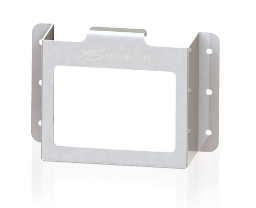 XS Power 511 Aluminum Stamped Side Mount ボックス with ウィンドウ for D680/S680/XP750 Batteries 「汎用品」(海外取寄せ品)