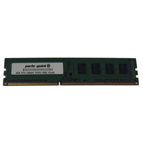8GB DDR3 Memory for MSI Motherboard H61M-P32/W8 PC3-12800 1600MHz NON-ECC デスクトップ DIMM RAM Upgrade (PARTS-クイック BRAND) (海外取寄せ品)
