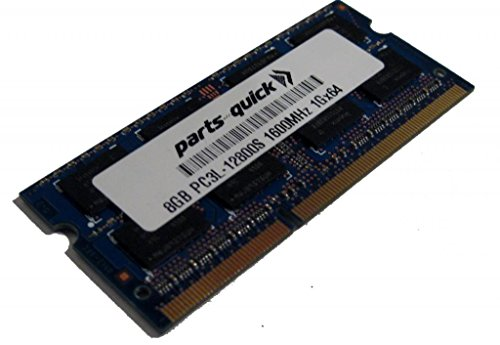 8GB Memory for Clevo ノート P671SA DDR3L PC3L-12800 SODIMM RAM (PARTS-クイック BRAND) (海外取寄せ品)