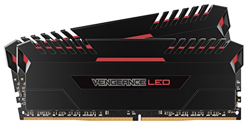 Corsair Vengeance 32GB (2x16GB) DDR4 2666 (PC4-21300) C16 for DDR4 Systems, レッド LED (CMU32GX4M2A2666C16R) (海外取寄せ品)