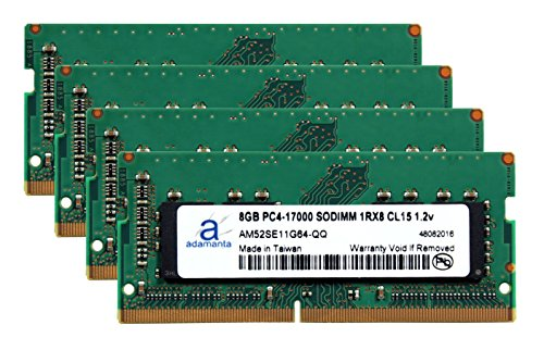 Adamanta 32GB (4x8GB) Laptop Memory Upgrade for カエデ プレデター 17 G9-791-717M DDR4 2133 PC4-17000 SODIMM 1Rx8 CL15 1.2v ノート RAM (海外取寄せ品)