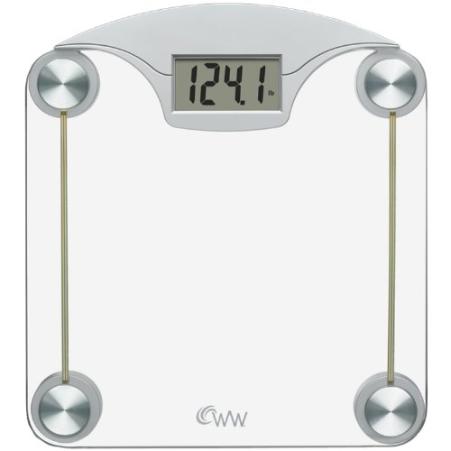 Weight Watchers by Conair デジタル ガラス Scale with ステンレス スチール アクセント 「汎用品」(海外取寄せ品)