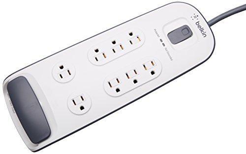 Belkin 8-Outlet AV Power Strip Surge プロテクター with 6-Foot Power コー??ド and Telephone プロテクション, 3000 Joules (BV108200-06) 「汎用品」(海外取寄せ品)