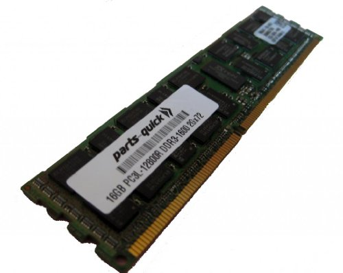 16GB DDR3 Memory Upgrade for レノボ ThinkServer RD440 Server PC3L-12800 1600MHz ECC レジスター ロー Voltage DIMM (PARTS-クイック BRAND) (海外取寄せ品)